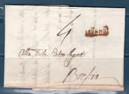 1833 -- Prefilatelica Da BRENO (VAL CAMONICA) (BS) Per BRESCIA -- - 1. ...-1850 Prefilatelia