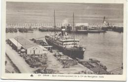 Carte Postale/Compagnie De Navigation Mixte/ Oran / Algérie/ Vers 1930-1950      MAR22 - Bateaux