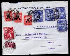 A4011) Kolumbien Columbia Brief Von Barranquilla 10.5.51 Nach Genua / Italien - Kolumbien