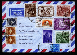 A4012) Indien India Airmail Cover From 2.7.1967 To Germany - Indien