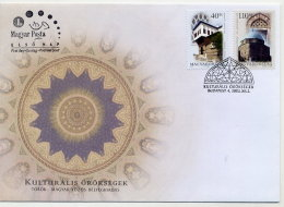 HUNGARY 2002 Turkish-Hungarian Cultural Heritage Set On FDC.  Michel 4755-56 - FDC