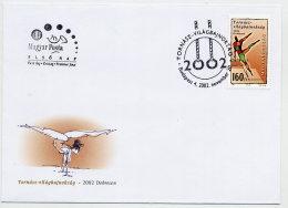 HUNGARY 2002 Gymnastics World Championship On FDC.  Michel 4754 - FDC