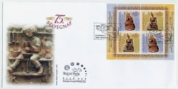 HUNGARY 2002 Stamp Day Blocks On Two FDCs.  Michel Blocks 274 - 275 - FDC