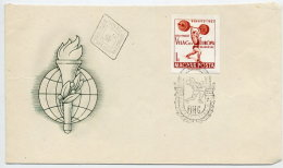 HUNGARY 1962 Weigth-lifting Championship Imperforate On FDC.  Michel 1865B - FDC