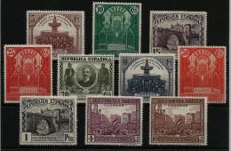 102338 España Edifil 604 - 613 SERIE COMPLETA * Catalogo 98,- - 1931-Hoy: 2ª República - ... Juan Carlos I