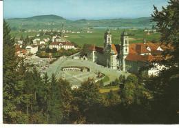 Einsiedeln (Schwyz, Svizzera) Kloster Et Vue Sur La Ville, Panorama Della Città, General View - Thematic Stamp - SZ Schwyz