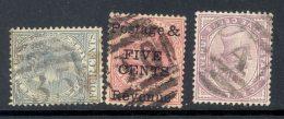 CEYLON, Barred Numeral Postmarks 35, 10, A - Ceylon (...-1947)