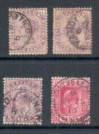CEYLON, Postmarks Batticotta, Kandy, Kadugannawa, Pusselewa - Ceylon (...-1947)
