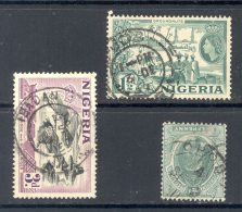 NIGERIA, Postmark Jos, Ibadan, Opobo - Nigeria (...-1960)