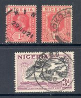 NIGERIA, Postmark Minna, Lokoja, Agodi B.O. Ibadan - Nigeria (...-1960)