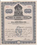Action : Banco De Londres Y Mexico 1935 - Banque & Assurance