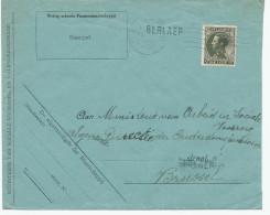 538/24 - Lettre TP Col Fermé ANTWERPEN 1936  - Griffe D´Origine BERLAER - Poststempel