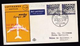 Germany-Berlin: FFC First Flight Cover, 1965, Lufthansa Frankfurt-Palma De Mallorca With Boeing 727 (traces Of Use) - [5] Berlijn