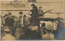 German Revolution Real Photo Revolutionstage In Berlin Matrosen Und Soldaten Auf Einem Auto 9/11/1918 Edit Riebicke - Evènements