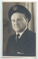 Photographie/Photo De Studio /Marine Militaire/ Portrait De Sous-officier/ Marine Nationale/Vers 1930-1950  MAR37 - Barcos