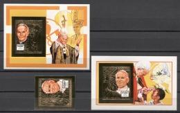 Guinea Pope  Papst Papież John Paul II 1992 Mi#1390B Bl#428-29B MNH - Other