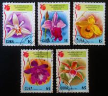ORCHIDEES 1998 - OBLITERES - YT 3735/39 - MI 4144/48 - Cuba
