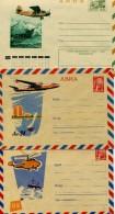 THEMATIQUE AVIONS  RUSSIE 1961 3 AEROGRAMMES - Airplanes