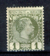 Monaco-114 - 1885 - Y&T N. 1 (+) Hinged - Privo Di Difetti Occulti - - Monaco