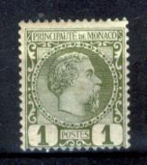 Monaco-114 - 1885 - Y&T N. 1 (+) Hinged - Privo Di Difetti Occulti - - Neufs