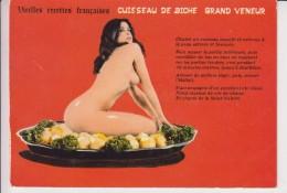 251 - Vieilles Recettes Françaises - Humour NU , NUDE - Cuisseau De Biche Grand Veneur - 627/3 - Humour