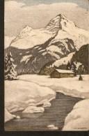 B39. Switzerland Wolfensberger Zurich Landscape Mountains River Winter View By SCHLATTER - Illustrateurs & Photographes