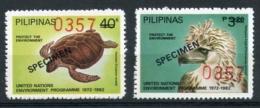 Philippines, 1982, UNEP, Environment, MNH SPECIMEN Set, Michel 1475-1476 - Philippines