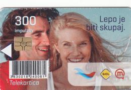 SLOVENIA SLOVENIJA PHONECARD 2011 LEPO JE BITI SKUPAJ ZBLIŽUJEMO  NOVA OBLIKA   TELEKOM CAT.NO. 791 - Slovenia