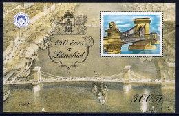 HUNGARY 1999 Anniversary Of Chain Bridge Block MNH / **.. - Commemorative Sheets