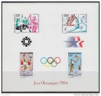 GABON  Olympics Sarajevo/Los Angeles 1984, Olympic Champions  SS Imperf. Rare! - Summer 1984: Los Angeles