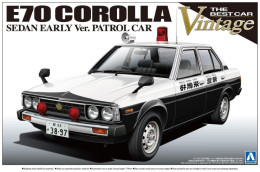 E70 Corolla Sedan Early Ver. Patrol Car 1/24 (  Aoshima ) - Cars