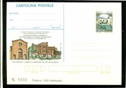 INTERO POSTALE-INTERI POSTALI I.P.Z.S.-C.P. IPZS - SAN MINIATO-BORSE E SALONI COLLEZIONISMO-MOSTRE FILATELICHE-CHIESA SA - Interi Postali