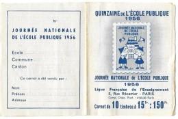 Carnet Quinzaine De L'école Publique - Stamp Day
