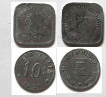 Chambre De Commerce De CAEN  10c Et 20c 1921 - Monetary / Of Necessity