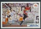Mua855 SPORT OLYMPISCHE SPELEN HARDLOPEN 400 METER HURDLES OLYMPIC GAMES BARCELONA STAMPS TANZANIA 1991 PF/MNH - Zomer 1992: Barcelona