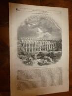 1847 MP Pont-aqueduc De ROQUEFAVOUR;Rue Faenza à Florence ; Les DRUIDES Et Les Tercets Des Bardes - 1800 - 1849