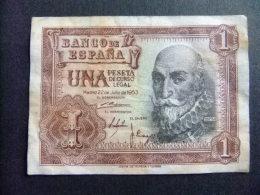 ESPAÑA BILLETE De 1 PESETA MARQUES DE SANTA CRUZ H4171027 MADRID 22/6/1953 Como Nuevo - [ 3] 1936-1975 : Régimen De Franco