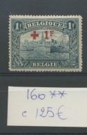 160 **Croix Rouge Cote 125 €      Très Frais - Belgien
