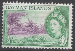 Cayman Islands. 1953-62 QEII. ½d MH. SG 149 - Cayman Islands
