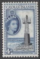 Cayman Islands. 1953-62 QEII. 4d MH. SG 155 - Cayman Islands