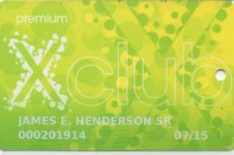 Carte Membership Casino : X Club Parx Casino : Bensalem PA USA (Premium) - Casino Cards