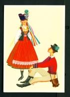 POLAND  -  Regional Costumes  Kurpie Region   Unused Postcard - Costumes