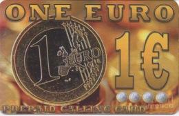 Télécarte Grecque : Pièce One Euro 1€ - Timbres & Monnaies