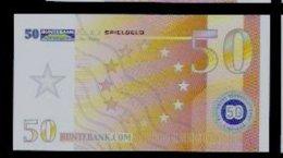 "Spielgeld ""BUNTEBANK"" Typ B, 50 EURO, Training, Education, Play Money, 88 X 48 Mm, RRR, UNC, Billet Scolaire - EURO"