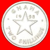 § GREAT BRITAIN: GHANA ★ 2 SHILLINGS 1958! LOW START ★ NO RESERVE! - Ghana