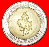 § GREAT BRITAIN: LIBYA ★ 1/2 DINAR 1377-2009 MINT LUSTER! LOW START ★ NO RESERVE! - Libyen