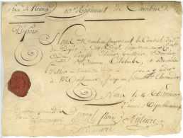 10e REGIMENT DE CAVALERIE (10e CUIRASSIERS) - Nancy 1794 - Nicolas PULTIERE (1757-1806) Chef De Brigade Vezelise - Documents Historiques