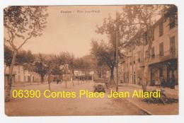 CPA 06 Contes 06390 Place Jean Allardi Tacot Animée (Carte Edit Dalbera Bernard écrite)  Pas Sur Delcampe - Contes