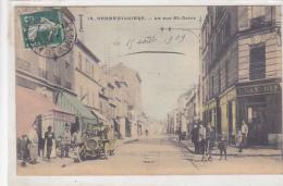 92. GENNEVILLIERS. N 14.  LA RUE ST DENIS. VOITURE  CPAA AN 1909. - Gennevilliers