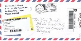 Registered Letter From Lu Chou City Taipei Taiwan Rep Of China To La Louvière Belgium (2010) - 1945-... République De Chine